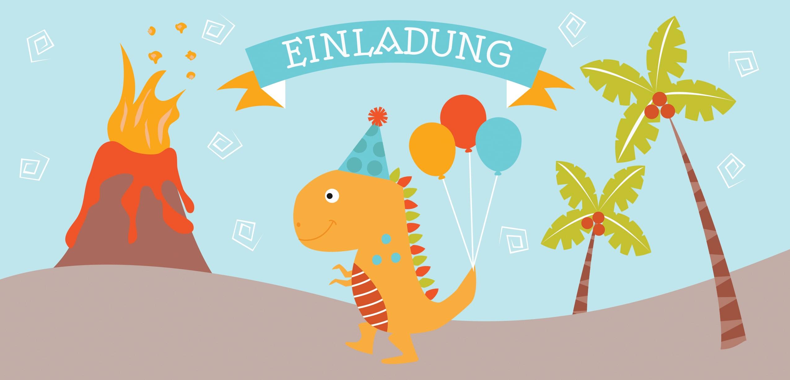 """10x einladungskarten """"dinosaurier"""" - cardwheels.de"""